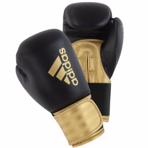 Adidas Hybrid 100 Boxing Gloves - Black/Gold